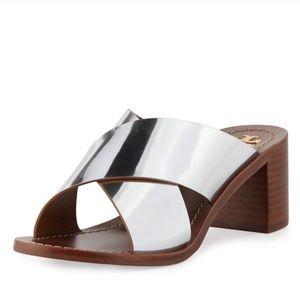 Tory Burch Silver Mirror Metallic Sandals   10